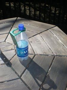 Hiking tip--water bottle clip