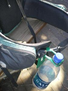 Backpacking and Camping tip: water bottle clip
