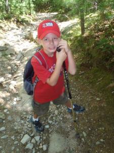 Jack, ready to hike.