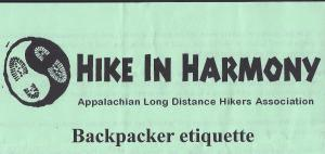 hiking and backpacking etiquette