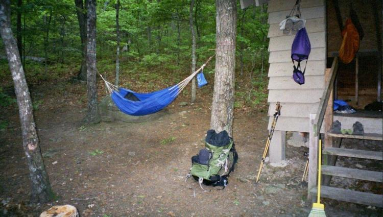 Hiking with a hammock